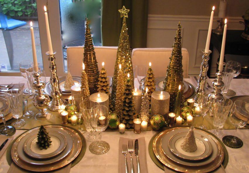 5 Luxuriöse Tischdekoration zu Weihnachten luxuriöse tischdekoration 5 Luxuriöse Tischdekoration zu Weihnachten elegant christmas trees e1479728032482