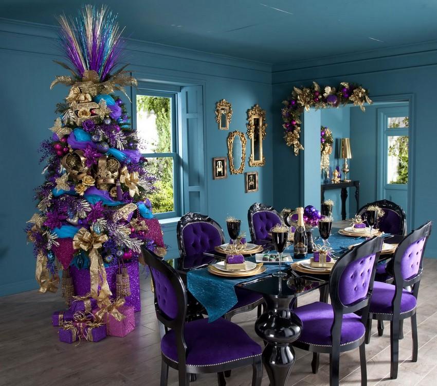 Weinachten Dekoideen weihnachten dekoideen Top 10 Weihnachten Dekoideen für Ihr Wohnzimmer Design Purple Best Christmas Decoration Ideas