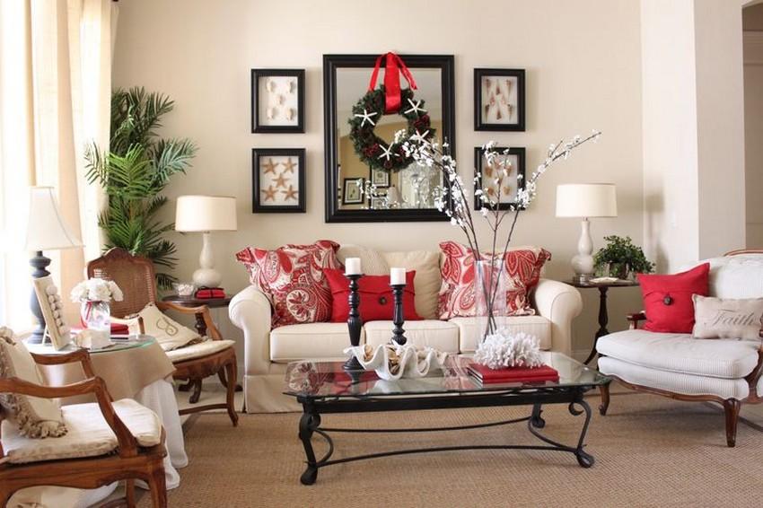 weihnachten dekoideen weihnachten dekoideen Top 10 Weihnachten Dekoideen für Ihr Wohnzimmer Design blue and white cottage living room