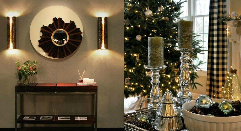 Weihnachten,Deko-Ideen,Luxus Eingangshalle,luxuriöse Konsole