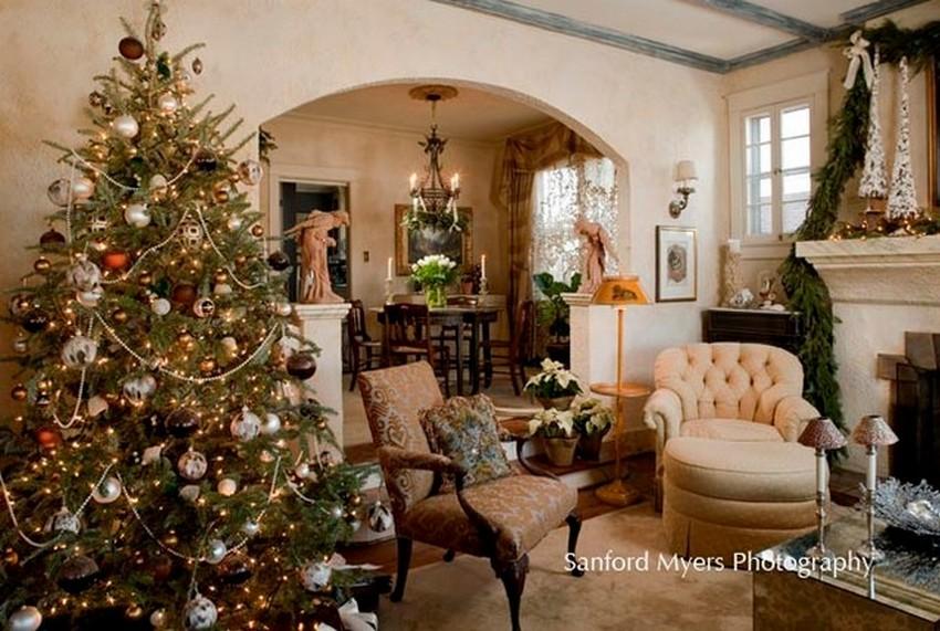 traditional-living-room weihnachten dekoideen Top 10 Weihnachten Dekoideen für Ihr Wohnzimmer Design traditional living room