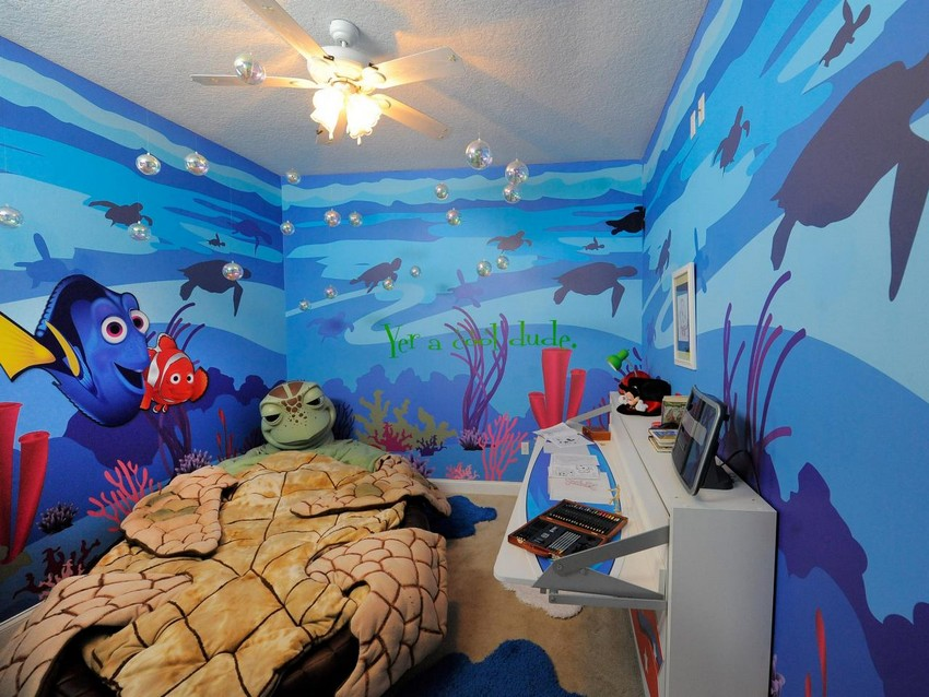 Kinderzimmer kinderzimmer Verzauberten Disney Kinderzimmer Wohnideen 01 finding nemo kids room design homebnc