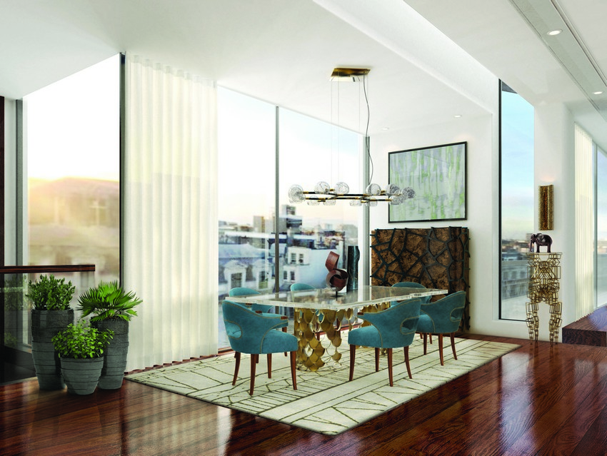 Zeitgenössische Esszimmer zeitgenössische esszimmer Deko Ideen für Zeitgenössische Esszimmer Villa BB