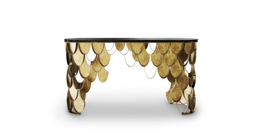 Erstaunliche für modern Eingangshalle Stil Konsole Erstaunliche Konsole für moderne Eingangshalle Stil koi brass console table contemporary design by brabbu 1 e1484656839308