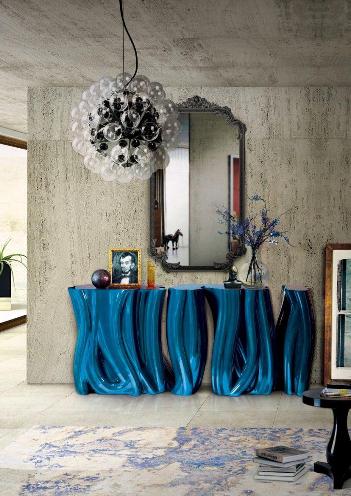 modern Eingangshalle  modern Eingangshalle Erstaunliche Kommode für modern Eingangshalle Stil monochrome blue