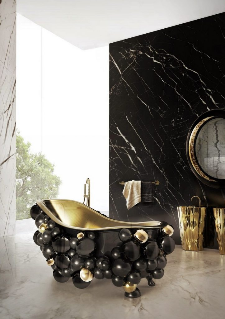 luxuriöses Badezimmer Dekorationideen um ein luxuriöses Badezimmer zu haben newton bathtubs maison valentina1