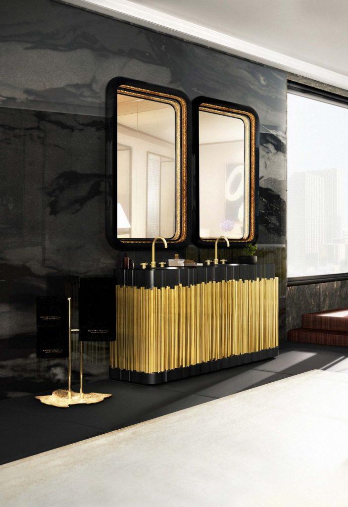 zeitgenössische Badezimmer zeitgenössische Badezimmer Original-Tipps für einen zeitgenössische Badezimmer 10 symphony washbasin ring rectangular mirror maison valentina HR