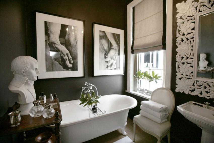zeitgenössische Badezimmer Original-Tipps für einen zeitgenössische Badezimmer bano negro con accesorios blancos 1029085