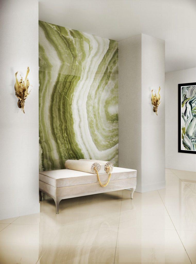 Tapeten Wunderschöne Tapeten für eine Raffinierte Innenarchitektur botanica sconce lele bench koket projects