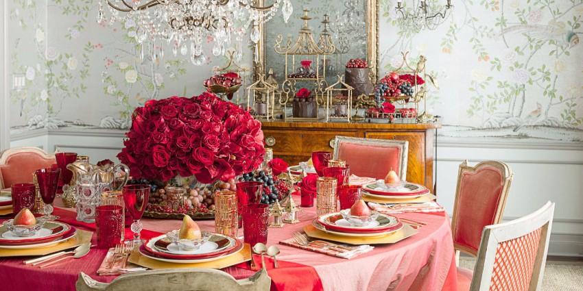Wie Ihr Esszimmer für Valentinstag zu schmücken valentinstag Wie Ihr Esszimmer für Valentinstag zu schmücken landscape 1453508099 rose table setting