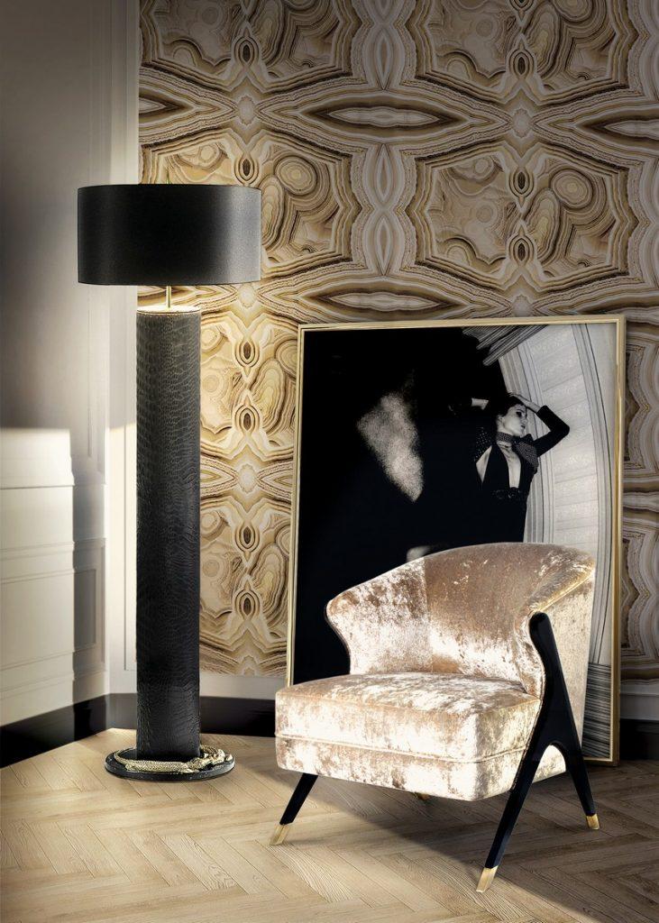 Tapeten Wunderschöne Tapeten für eine Raffinierte Innenarchitektur naomi chair koket projects