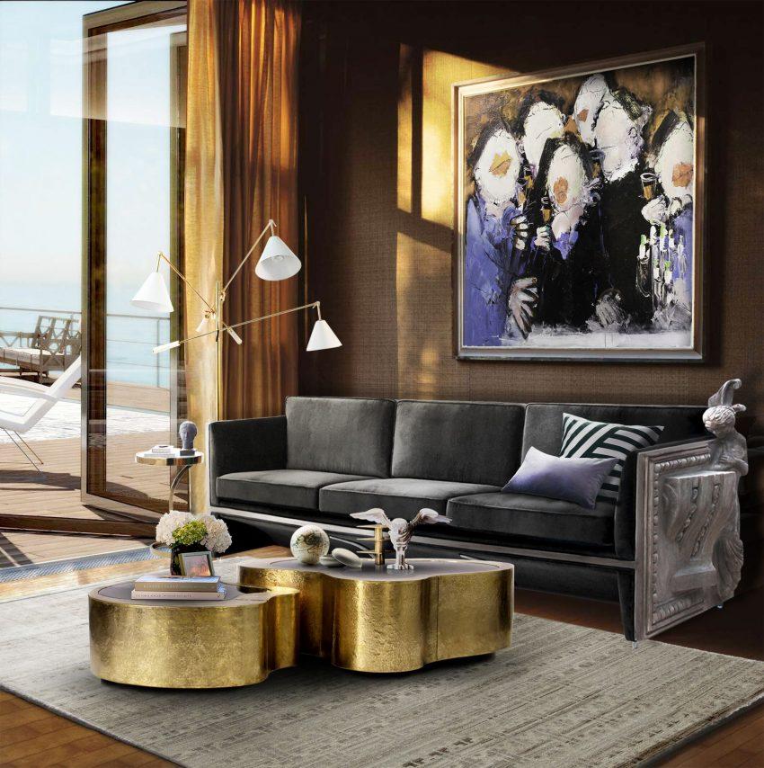 2017 Wohnzimmer Frühling Möbel Trends: 5 Samt Sofa Ideen | Wohn