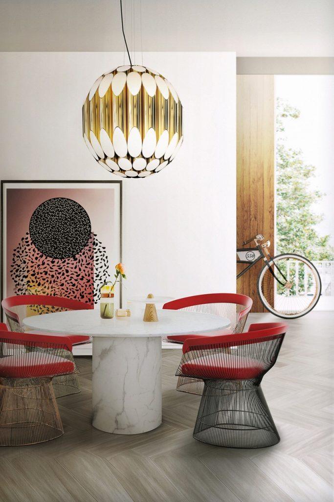 25 erstaunliche Inspirationen  Esszimmer 25 erstaunliche Esszimmer Inspirationen Delightfull Kravitzsuspensionlamp