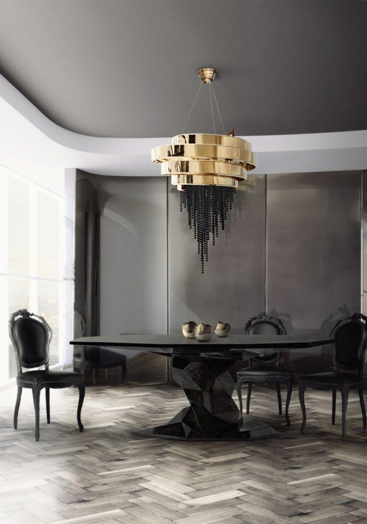 kronleuchter Kronleuchter: Einrichtungsideen zwisschen den klassiche / moderne Stil bonsai dining table hr