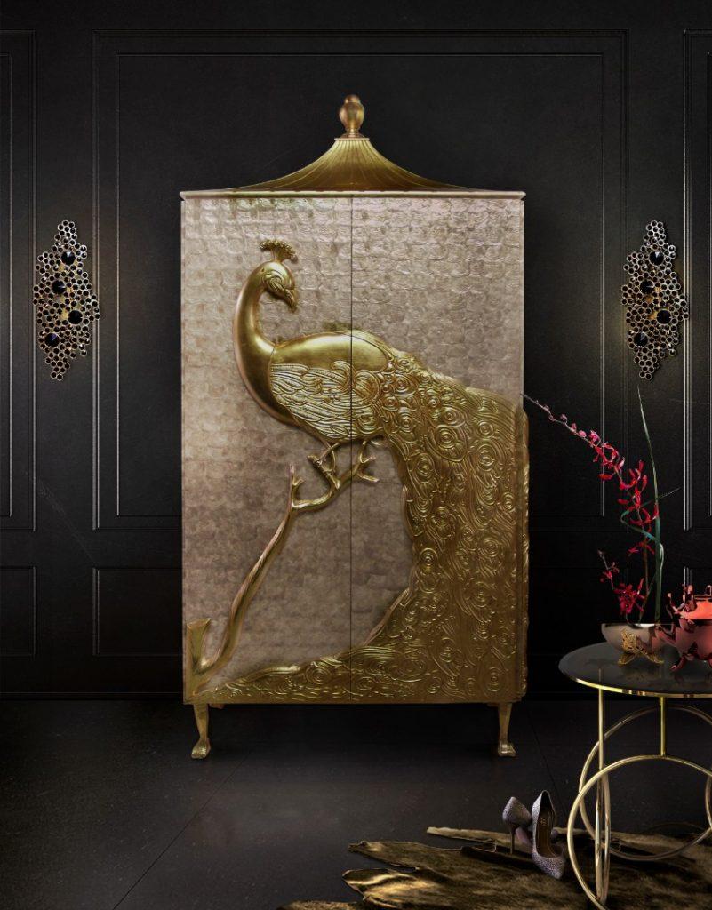 luxuriöse wohndesign Beliebte luxuriöse Wohndesign Ideen, die Sie inspirieren werden camilia armoire kiki side table eternity sconce koket projects