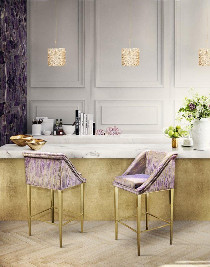Moderne Küchen Moderne Küchen für einen zeitgenössischen Stil kitchen koket geisha bar stool