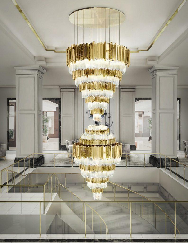 Begrüßen Sie Ihre Gäste in Stil mit erstaunlichen Lobbies Lobbies Begrüßen Sie Ihre Gäste in Stil mit erstaunlichen Lobbies lobby luxxu empire xl chandelier