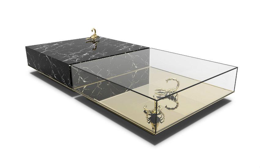 luxus möbel Neue Luxus Möbel aus Marmor und Messing von Boca do Lobo metamorphosis center table 01