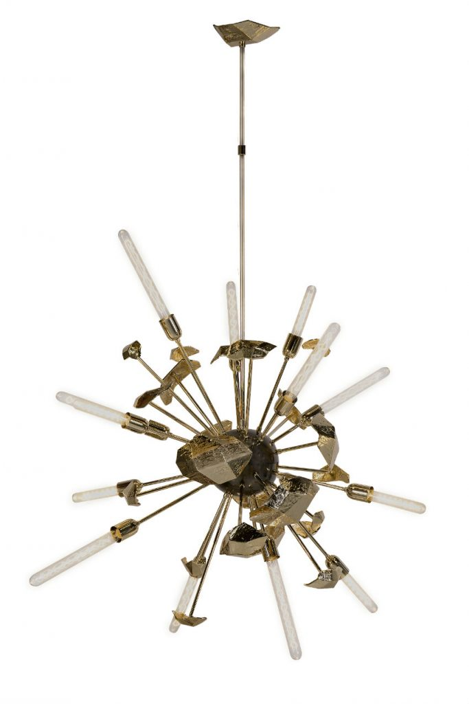 Isaloni Mailand 10 neue atemberaubende Design Möbel in Isaloni Mailand supernova chandelier 01 1