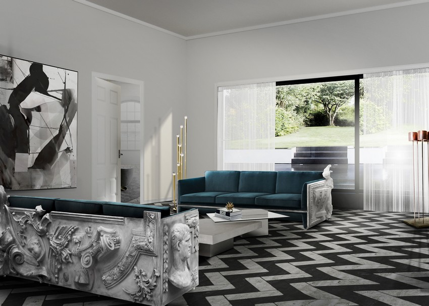 raffiniertes wohnzimmer Top 10 Ideen für ein raffiniertes Wohnzimmer versailles blue