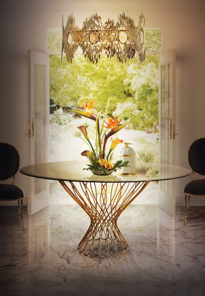 ein glamouröses Ostern esszimmer Das perfekte Esszimmer für ein glamouröses Ostern allure dining table koket projects
