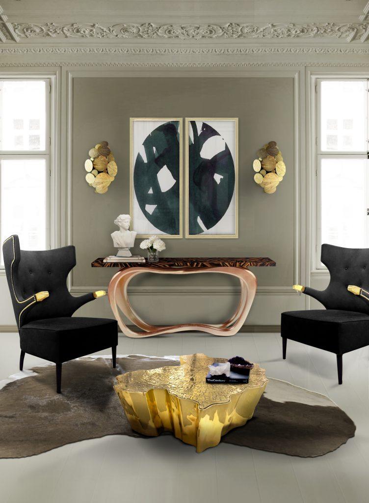 Wandleuchter Einrichtungsideen: atemberaubende Wandleuchter zum einzigartige Dekor eden center table boca do lobo 09