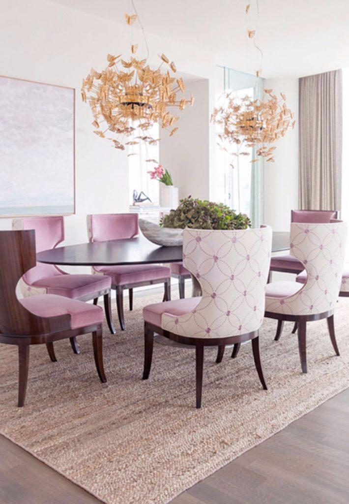 ein glamouröses Ostern esszimmer Das perfekte Esszimmer für ein glamouröses Ostern nymph chandelier koket projects