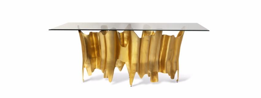 Die beste 10 Luxus goldene Stücke für einen perfekten Sommer  luxus Die beste 25 Luxus goldene Stücke für einen perfekten Sommer obssedia dining table 1
