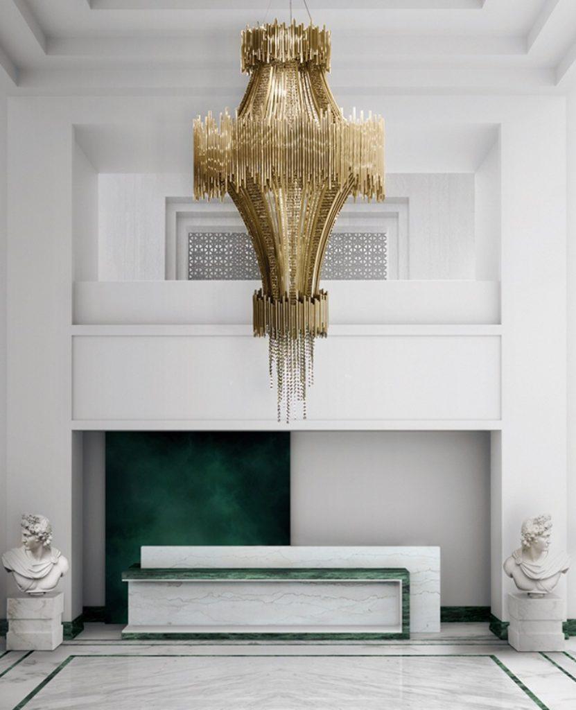 Die beste 25 goldene Stücke für einen perfekten Sommer luxus Die beste 25 Luxus goldene Stücke für einen perfekten Sommer scala chandelier detail 02