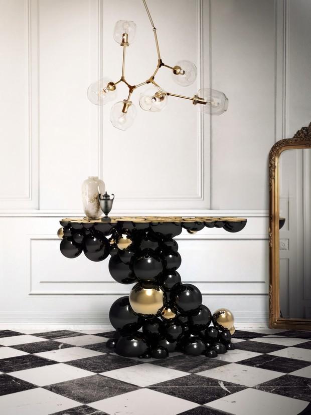 Luxus-Gold und schwarze Möbel für moderne Interiors moderne Interiors Luxus-Gold und schwarze Möbel für moderne Interiors 1