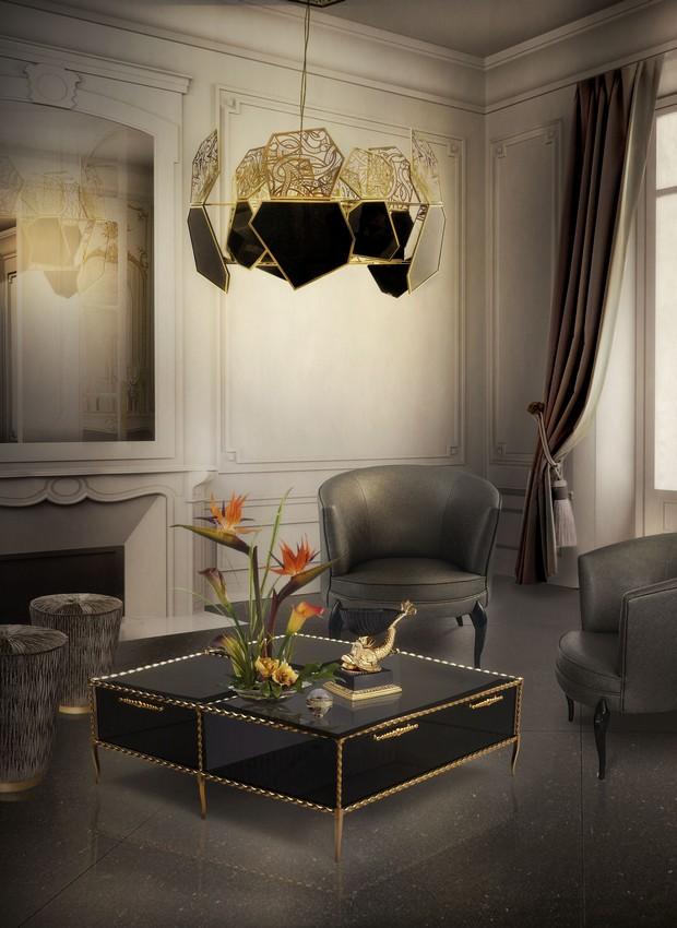 Luxus-Gold und schwarze Möbel für moderne Interiors moderne Interiors Luxus-Gold und schwarze Möbel für moderne Interiors 10