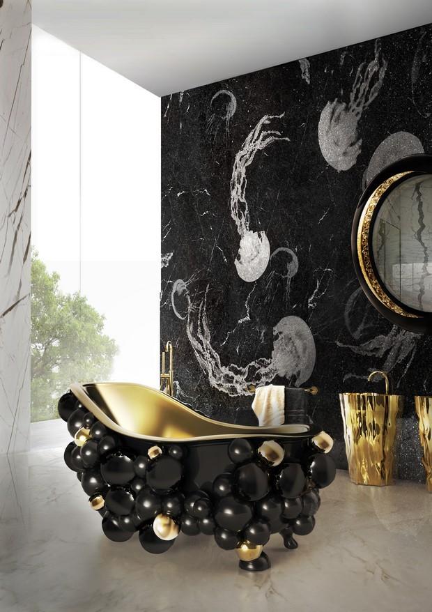 Luxus-Gold und schwarze Möbel für moderne Interiors moderne Interiors Luxus-Gold und schwarze Möbel für moderne Interiors 2