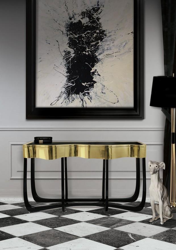 Luxus-Gold und schwarze Möbel für moderne Interiors moderne Interiors Luxus-Gold und schwarze Möbel für moderne Interiors 5
