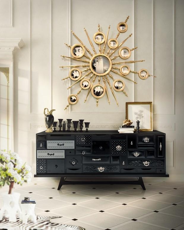 moderne Interiors Luxus-Gold und schwarze Möbel für moderne Interiors 6