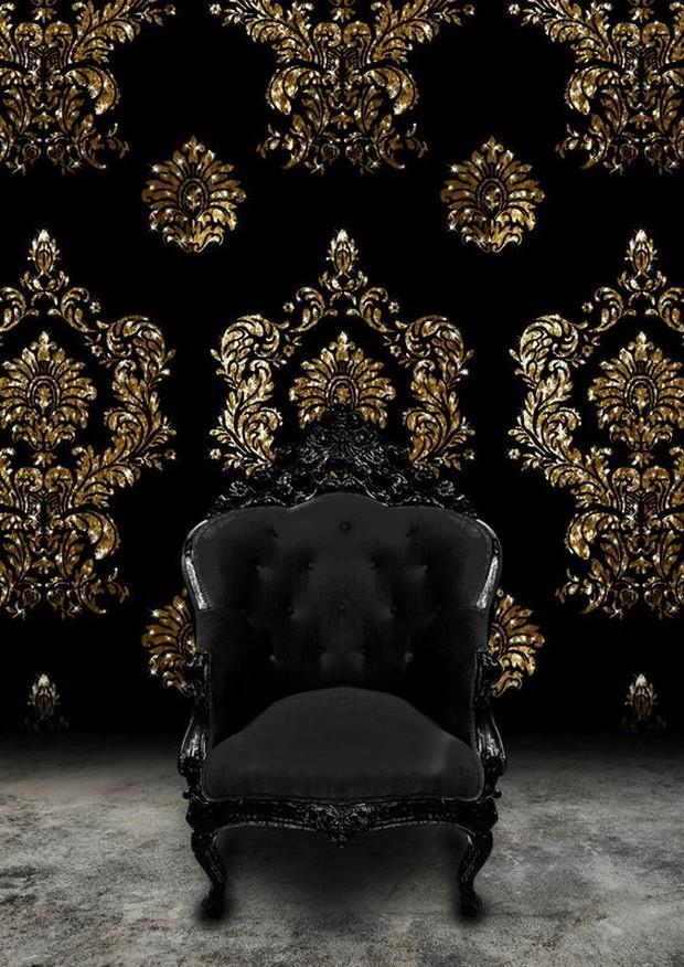 Luxus-Gold und schwarze Möbel für moderne Interiors moderne Interiors Luxus-Gold und schwarze Möbel für moderne Interiors 8