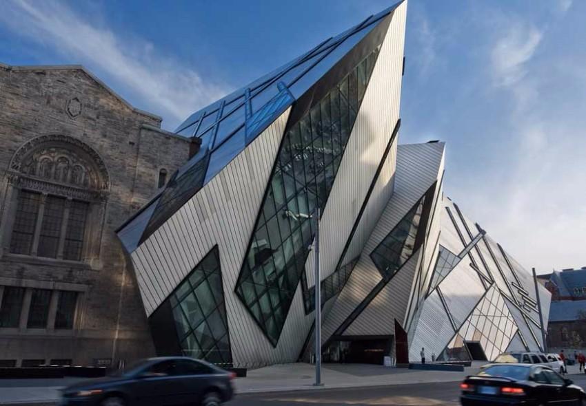 Architektur Architektur der besten Museen weltweit Royal Ontario Museum Expansion Toronto Canada 1