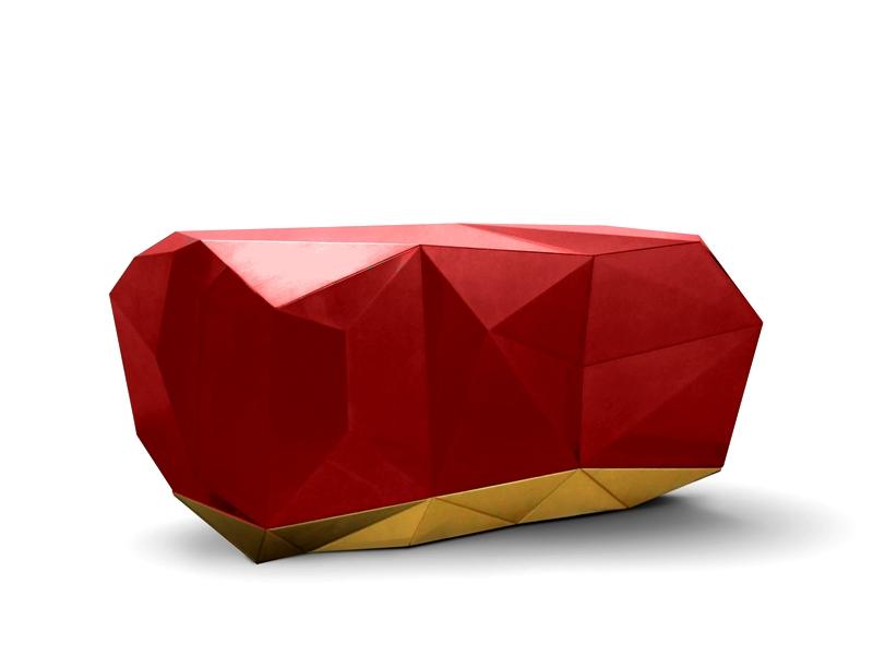 Pantone Farbtrends 2017 : Luxus Möbel mit Flame Scarlet