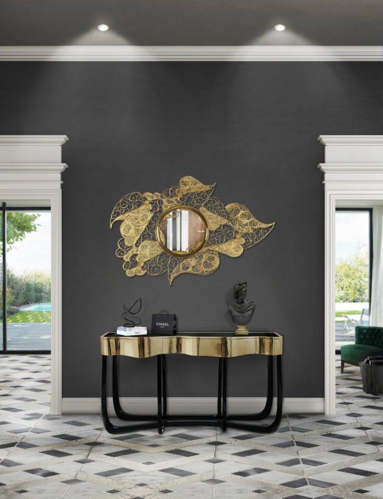 Wandspiegel Exklusives Design: Luxus Wandspiegel, die Persönlichkeit reflektieren Filigree Spiegel