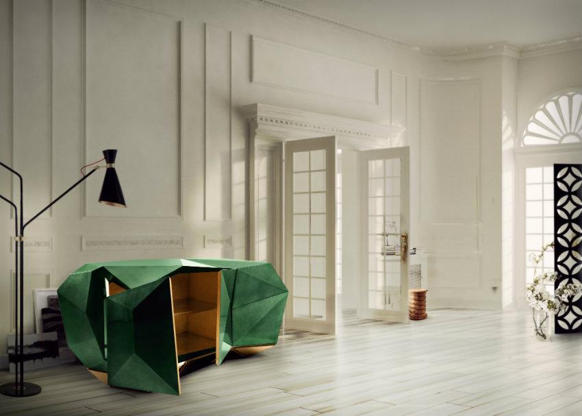 moderne anrichten Moderne Anrichten, die Funktionalität und Luxus Design verbinden diamond emerald 06 1