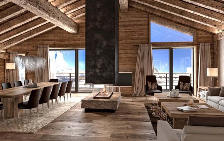 Chalet Skandinavische schicke Wohnzimmer Design zu Ihres Winter Chalet 376e6daa22e0065de1e471a25009b77c 1