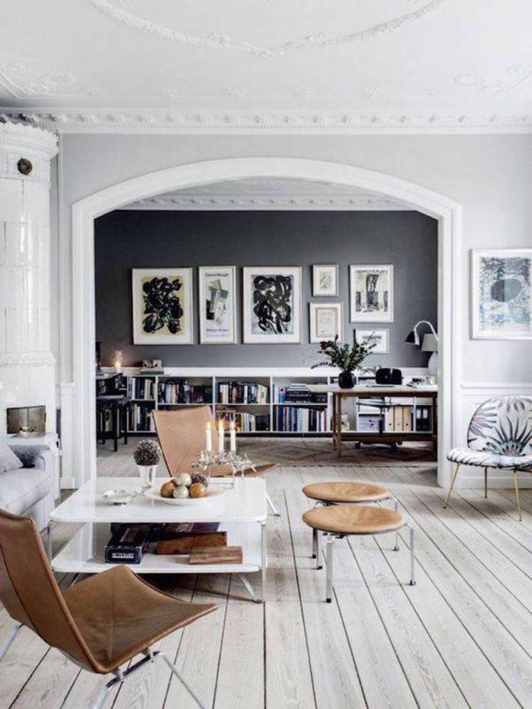 Innenausstattung Luxus Wohnzimmer-Ideen für eine skandinavische Innenausstattung 980x1306 c9181 29f9 11e6 9734 cde7e0718dcd assets elleuk com gallery 30240 black feature wall 1 pinterest jpg