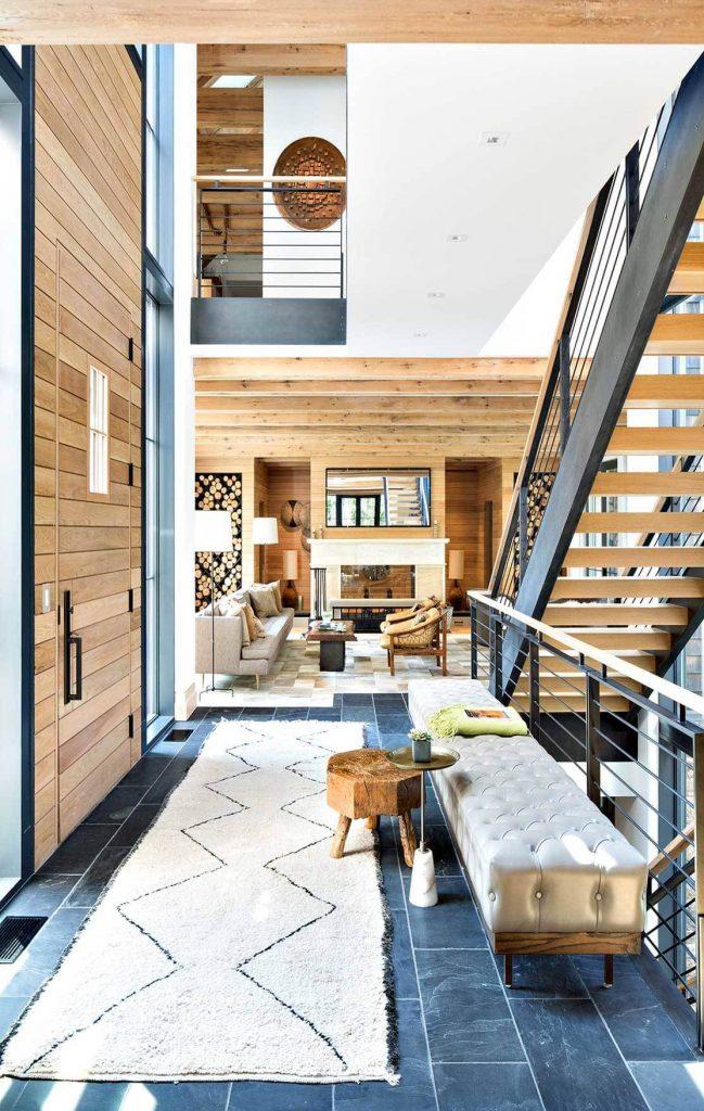 Chalet Skandinavische schicke Wohnzimmer Design zu Ihres Winter Chalet Modern Lake House Workshop APD 16