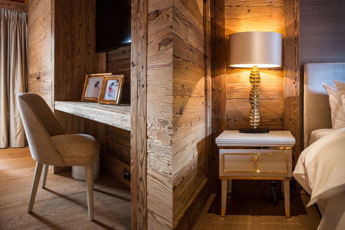chalet Luxus Privates Chalet in Gstaat von Rougemont Interiors entworfen blush i web