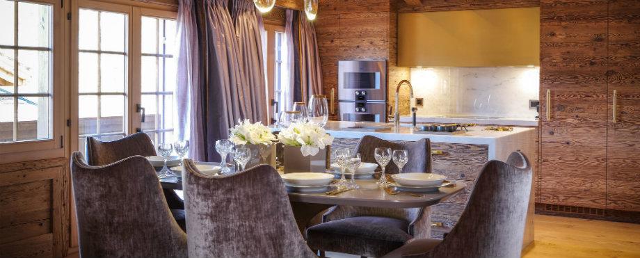 Chalet Skandinavische schicke Wohnzimmer Design zu Ihres Winter Chalet feature