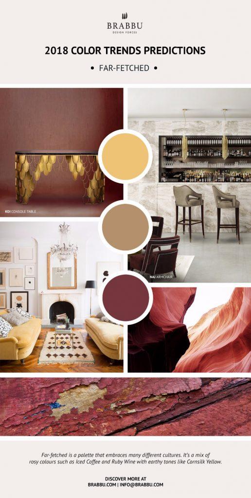 einrichtungsideen furs wohnzimmer trend farben, trendfarben 2018: die beste innendesign tipps | wohn-designtrend, Ideen entwickeln
