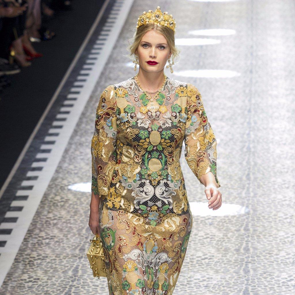 mode Luxus Design Möbel an Mode Herbsttrends 2017 inspiriert Dolce Gabbana Fall 2017 Runway