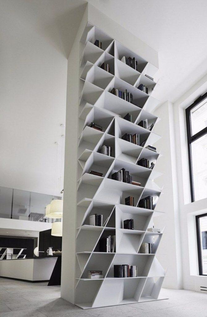 10 schöne Lösungen für modernen Bücherregale mit Funktionalität Bücherregale 10 schöne Lösungen für modernen Bücherregale mit Funktionalität Geometric bookcases and wall units