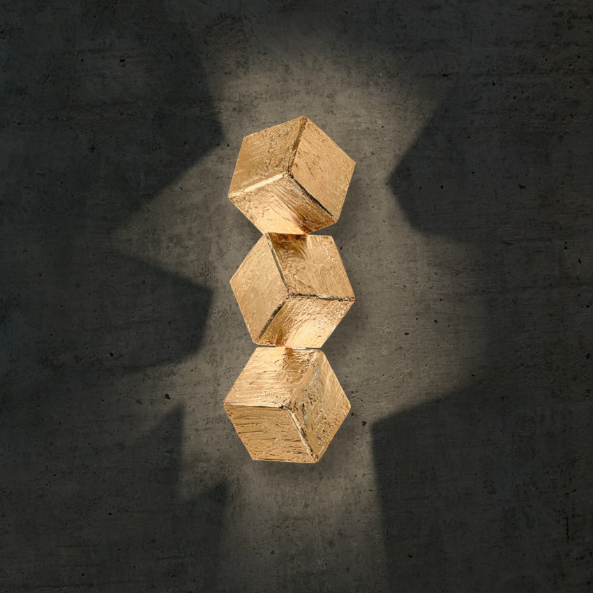 Wandleuchte Exklusive Wandleuchte für Modernes Ambiente cubic sconces big 03