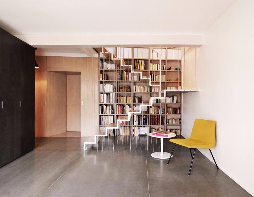 10 schöne Lösungen für modernen Bücherregale mit Funktionalität Bücherregale 10 schöne Lösungen für modernen Bücherregale mit Funktionalität suspended staircase bookshelf design