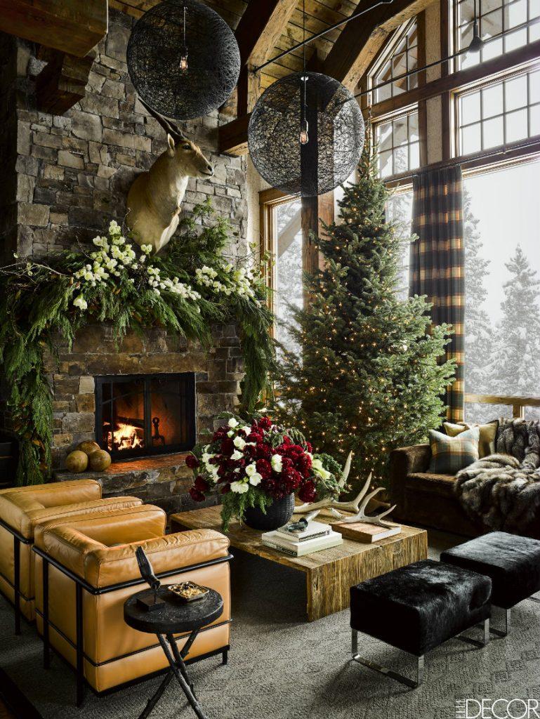 Gemütliche Wohnzimmer Ideen für warmes Weihnachten zu Hause  Wohn